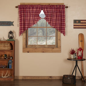 Braxton Scalloped Lined Prairie Swag Curtains