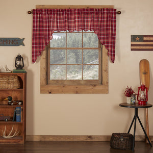 Braxton Scalloped Lined Swag Curtains