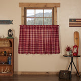 "Braxton Scalloped Lined Tier Curtains 36"" - Primitive Star Quilt Shop"