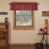 "Braxton Scalloped Lined Valance 72"" - Primitive Star Quilt Shop"