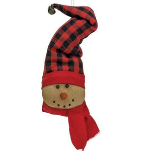 Buffalo Check Snowman Ornament