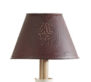 Burgundy Star Metal Lamp Shade - 10""