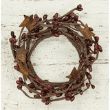 "Burgundy Pip Candle Ring - 2"" - Primitive Star Quilt Shop"
