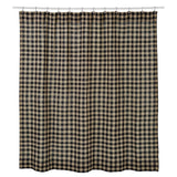 Burlap Black Check Shower Curtain - Primitive Star Quilt Shop