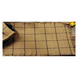 Burlap Check Tan Placemat