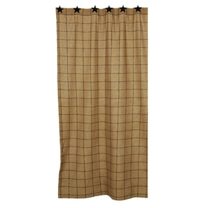 Burlap Check Tan Shower Curtain