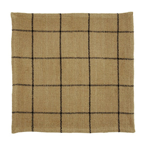 Burlap Check Tan Tablemat