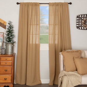 Burlap Natural Panel Curtains 84""