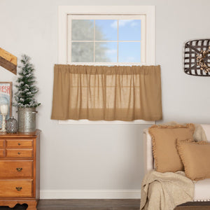 Burlap Natural Tier Curtains 24""