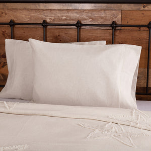 Burlap Antique White Standard Pillow Case - Set of 2