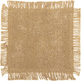 Burlap Natural Fringed Coaster - Set of 12 - Primitive Star Quilt Shop