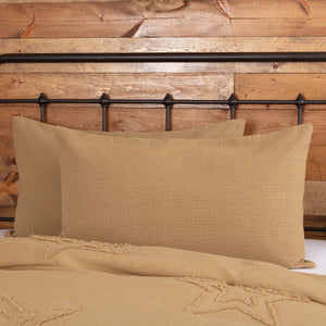 Burlap Natural King Sham 21x37""