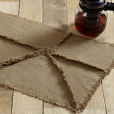 "Burlap Natural Reverse Seam Patch Runner 13x48"" - Primitive Star Quilt Shop"