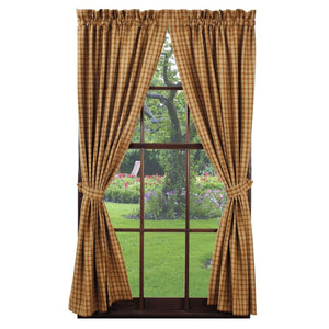 Cambridge Mustard Panel Curtains 84""