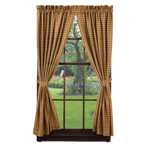 Cambridge Mustard Short Panel Curtains 63""