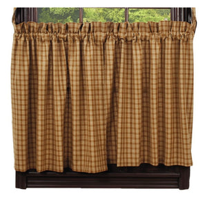 Cambridge Mustard Tier Curtains 36""