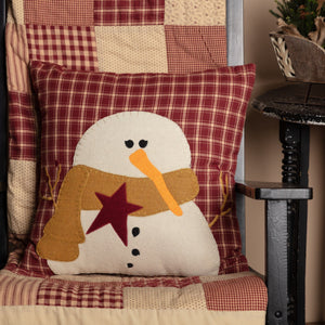 "Cheston Applique Snowman Pillow 18"" Filled"