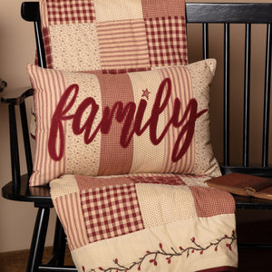 "Cheston Family Pillow 14x22"" Filled"