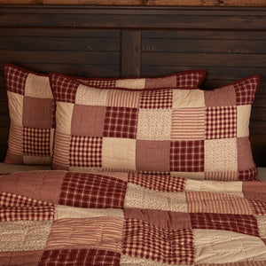 Cheston Patchwork Quilted King Sham 21x37""