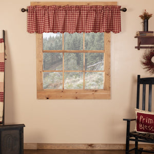 Cheston Plaid Scalloped Lined Valance 72""