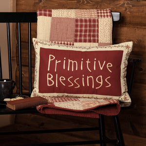 "Cheston Primitive Blessings Pillow 14x22"" Filled"