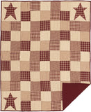 Cheston Primitive Star Quilted Throw - Primitive Star Quilt Shop