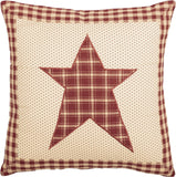 "Cheston Star Fabric Pillow 16"" Filled - Primitive Star Quilt Shop"