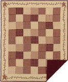 Cheston Star and Pip Quilted Throw - Primitive Star Quilt Shop