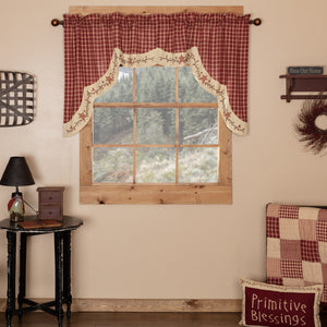 Cheston Star and Pip Scalloped Lined Swag Curtains