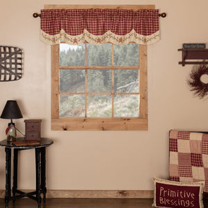 Cheston Star and Pip Scalloped Lined Valance 72""