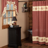 Cheston Star and Pip Shower Curtain - Primitive Star Quilt Shop