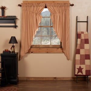 Cheston Scalloped Lined Prairie Curtains 63""