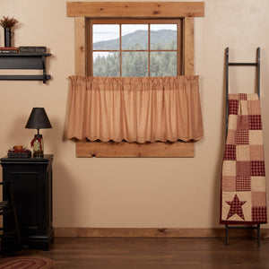 Cheston Scalloped Lined Tier Curtains 24""