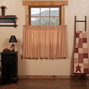 Cheston Scalloped Lined Tier Curtains 36""