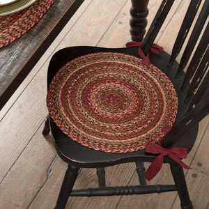 "Cider Mill Braided Chair Pad 15"" - Set of 6"