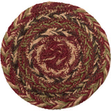 "Cider Mill Braided Coaster 4"" - Set of 6 - Primitive Star Quilt Shop"