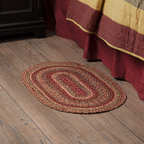 "Cider Mill Braided Oval Rug 20x30"" - with Pad - Primitive Star Quilt Shop"