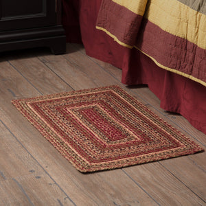 "Cider Mill Braided Rectangle Rug 20x30"" - with Pad"