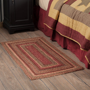 "Cider Mill Braided Rectangle Rug 27x48"" - with Pad"