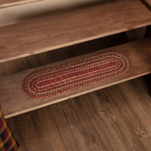 Cider Mill Oval Braided Stair Tread Latex Backed 8.5x27""
