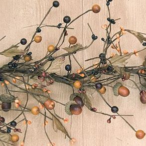 Country Mix Acorn Garland 4'