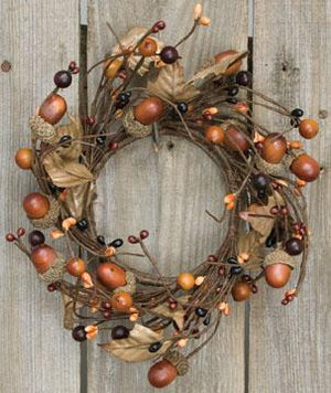 Country Mix Acorn Candle Ring
