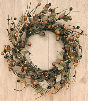 Country Mix Acorn Wreath 12""
