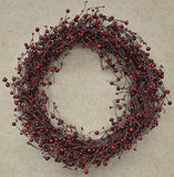 "20"" Country Berry Wreath - Primitive Star Quilt Shop"