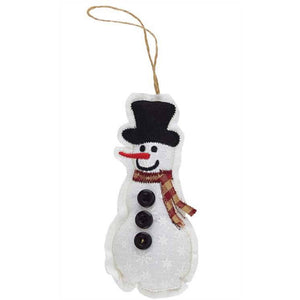 Country Snowman Patchwork Ornament
