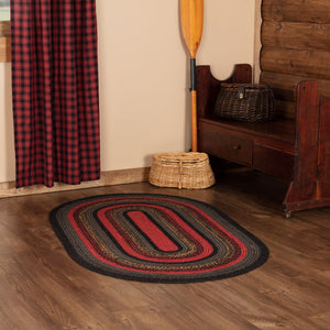 "Cumberland Oval Braided Rug 36x60"" - with Pad"