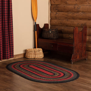 Cumberland Oval Braided Rug 4x6' - with Pad