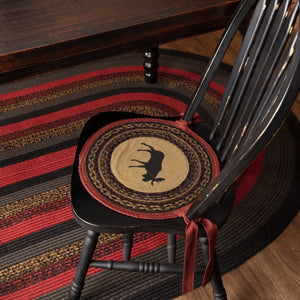 "Cumberland Moose Braided Chair Pad 15"" - Set of 6"