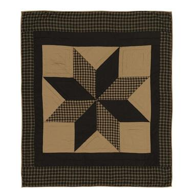 Dakota Star Quilted Throw - Primitive Star Quilt Shop - 1