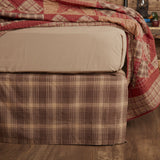 Dawson Star Bed Skirt - Primitive Star Quilt Shop